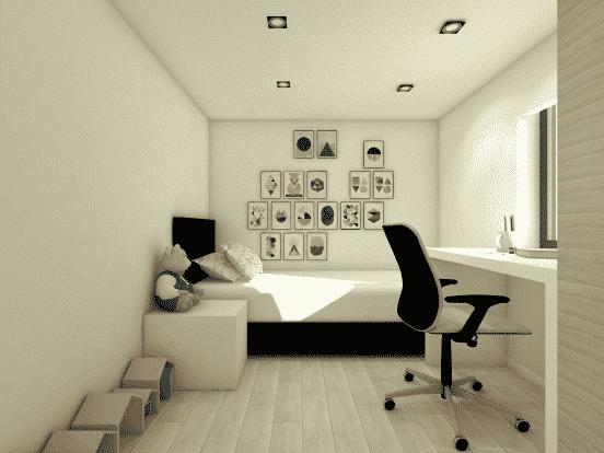Chalet habitable en bois de 59m2 - Chambre