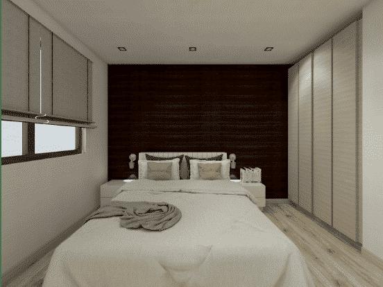 Chalet en bois habitable 79m2 - Chambre