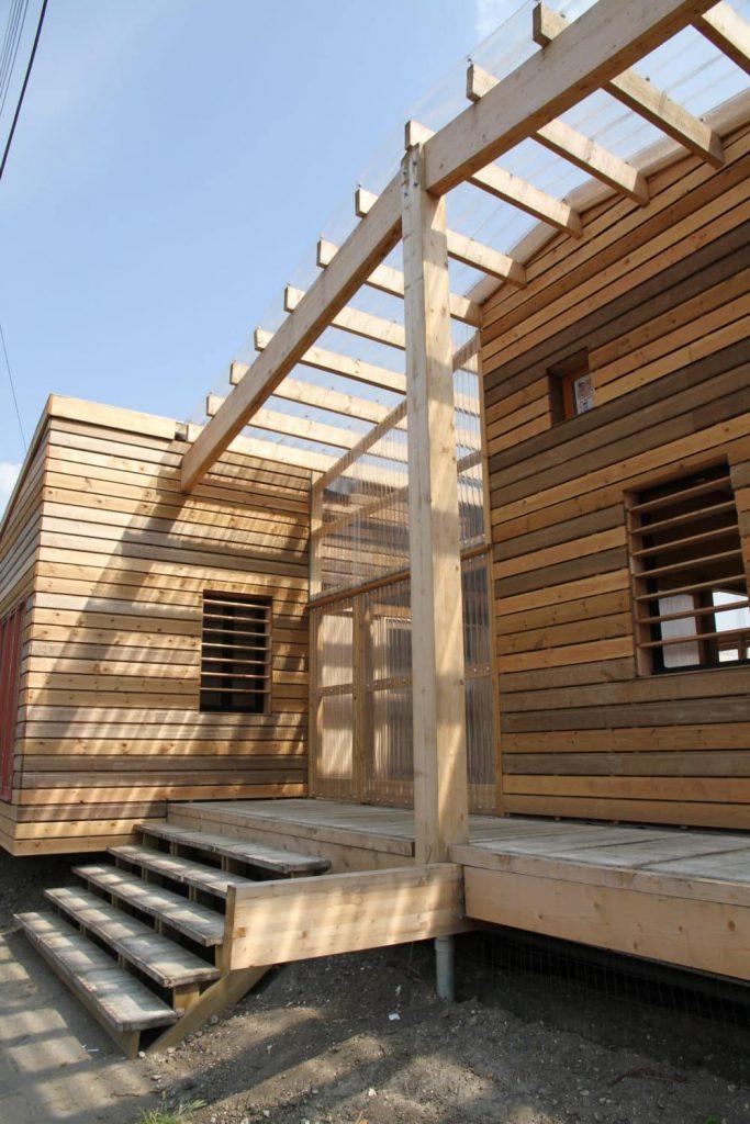 Maison en bois d'architecte - Terrasse