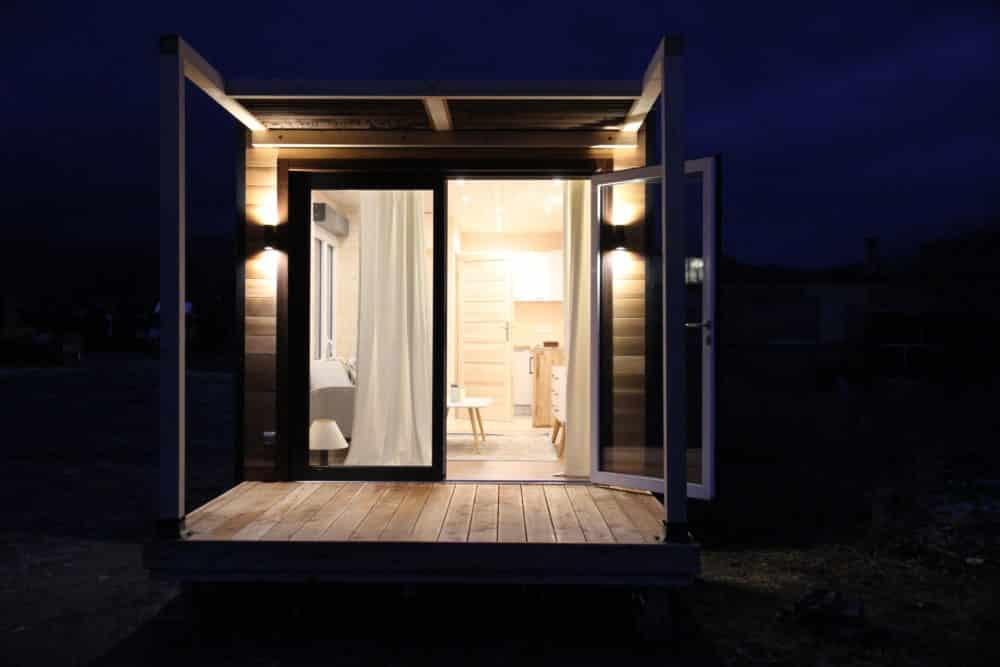 Studio de jardin habitable Twenty V2 - Terrasse la nuit