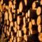 Des arbres coupés et empilés