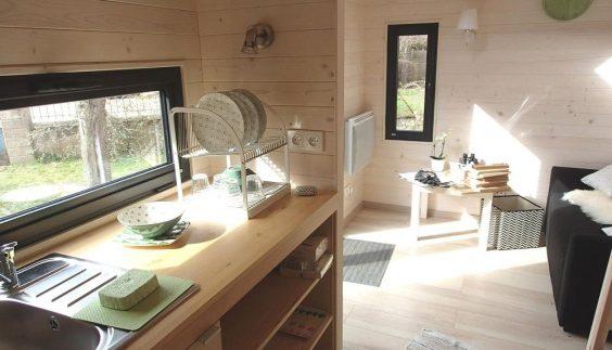 Espace cuisine de la Tiny House Cabana