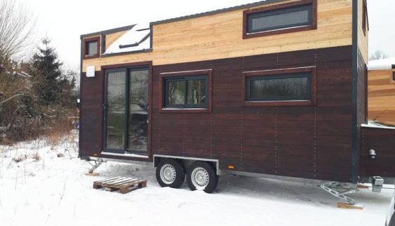 Tiny House Lugano sous la neige