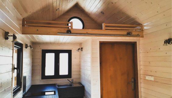Intérieur de la Tiny House Carol