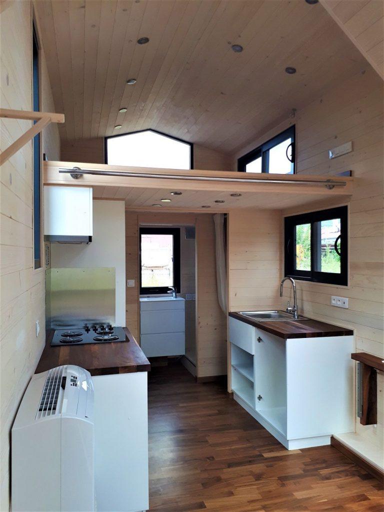 Intérieur de la Tiny House Lugano