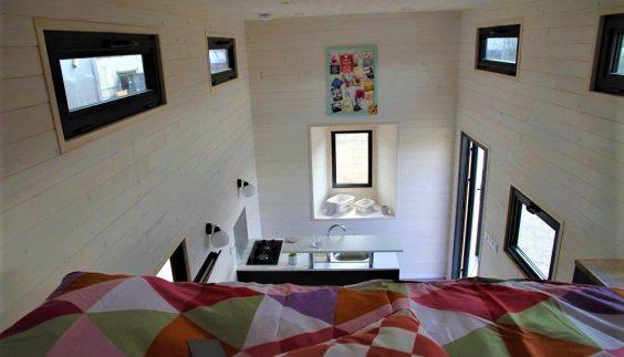Intérieur de la Tiny House sur mesure Lotta