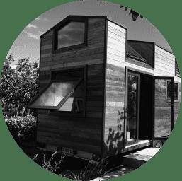 Tiny House Quadrapol En noir et blanc