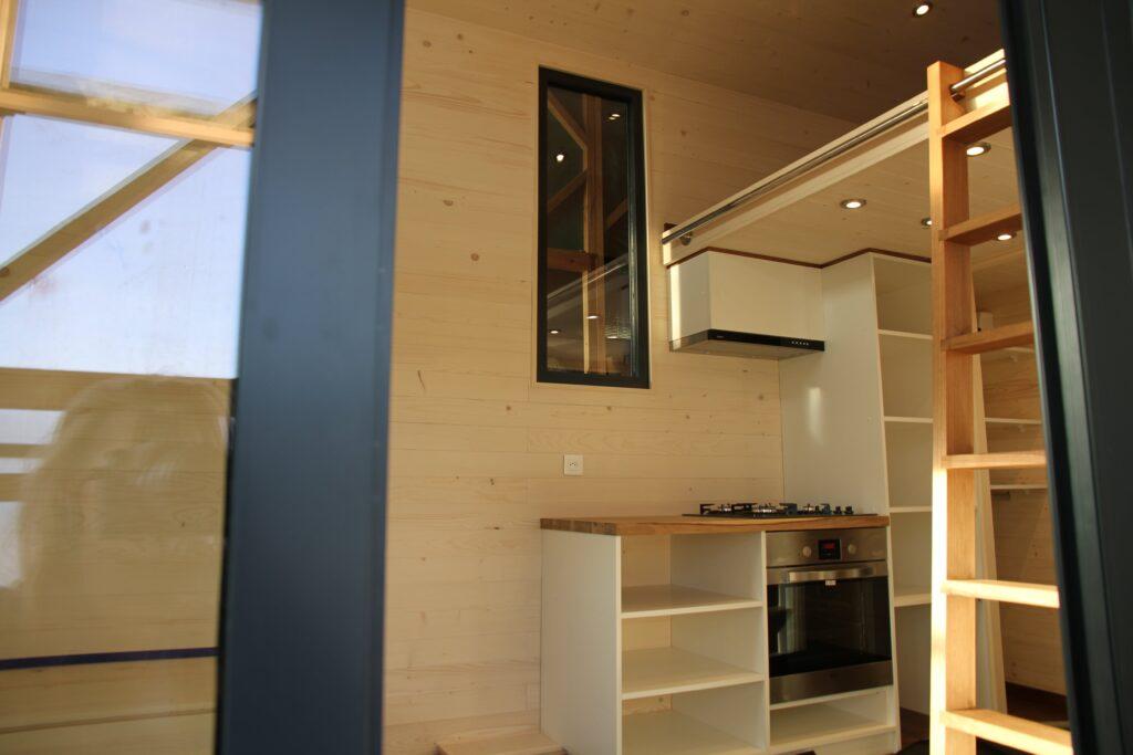 L'amménagement intérieur de la Tiny House Lugano